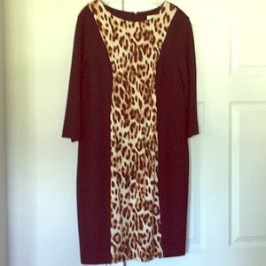 Chico's Animal Panel So Slimming Avery Dress
